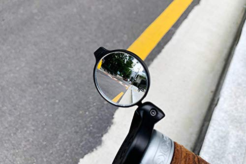 THE BEAM Adult Unisex Corky Urban Universal Mirror for Bicycles and E-Bikes, Mountain Bikes or Scooters, Black, Mirror Diameter 35 mm