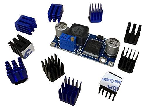 3DPLady | 10x Stepper Treiber Kühlkörper + Step Down Modul für bessere und leisere Kühlung von 3D Druckern