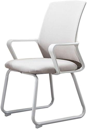 Chaise de bureau, facile à nettoyer chaise résistante à l'usure douce chaise bureau d'ordinateur et chaise de dortoir de chaise (Couleur   Blanc)