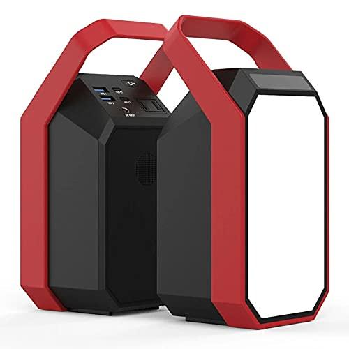 Feixunfan Generador Inverter Central Eléctrica De Emergencia 83.25 WHS 7.5AH 22500mAh 3.7V Generador Solar De Almacenamiento De Energía para Viajes de Camping (Color : Black+Red, Size : 83.25Wh)