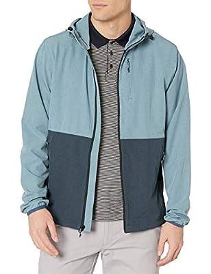 Rip Curl Men's Elite Anti Series Water Resistant Hooded Wind Breaker, Blue 20, Small by Rip Curl