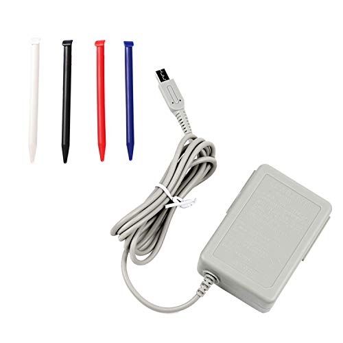 New 3DS XL Charger Kit, AC Power Adapter Charger and Stylus Pen for Nintendo New 3DS XL, Wall Travel Charger Power Cord Charging Cable