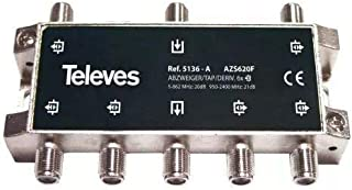 Televes 5136 - Derivador interior 60 con conector f 20db a-