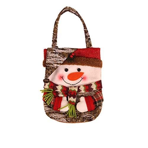 Transwen Bolsa, Bolsa de Fiesta, Bolsa de Regalo para niña, Papá Noel, muñeco de Nieve, Papá Noel, Elk, Bolsa Decorativa