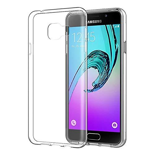 NEW'C Funda para Samsung Galaxy A3 2016, Anti- Choques y Anti- Arañazos, Silicona TPU, HD Clara