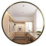 YMLSD Espejos, Espejos de Pared para Dormitorios Redondos Círculo Grande Espejo de Pared, Espejo de Baño de M de Metal, Decoración de Pared,C,50 cm