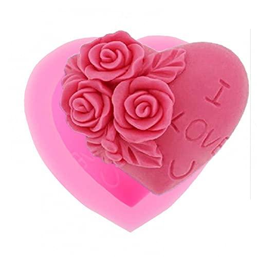 GJEFEGS Molde de Pastel de Silicona 3D Molde de Chocolate Fondant Herramientas de decoración Utensilio de Cocina