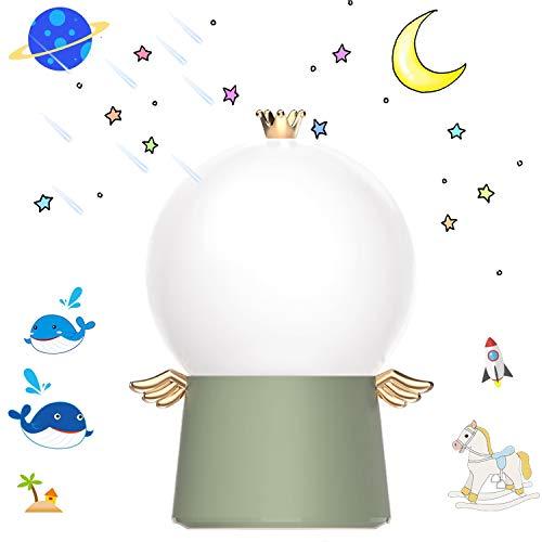 Bainuojia Proiettore Bambini Luce, Notturna LED Musica Bambini Luce Notturna con 360° Rotazione Musicale Proiettore Lampada, Halloween, Regali di Natale, Decorazione Della Cameretta dei Bambini
