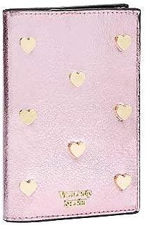 Victorias Secret Black Passport Cover Pink Metallic Crackle NWT
