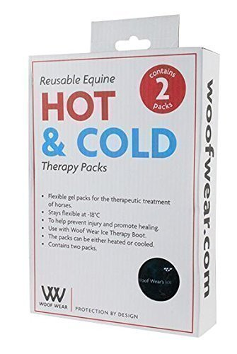 Woof Wear - Packs gel thérapie glace (2 par boîte) - Thérapie chaud ou froid pour blessures jambe de cheval ou poney ou inflammation à utiliser avec botte thérapie glace (vendu séparément)