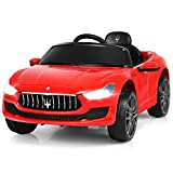 Costzon Ride on Car, 12V Licensed Gbili, Battery Powered Car w/2 Motors, Remote Control, LED Lights, MP3, Horn, Music, Spring Suspension, Two Doors Open, Kids Electric Vehicle (Red)