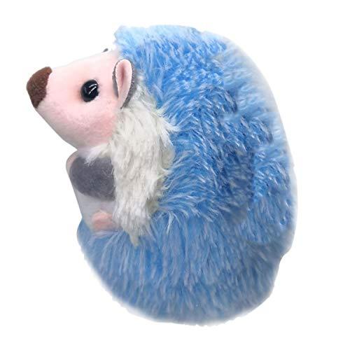 cherrypop Lindo erizo felpa llavero teléfono móvil colgante llavero erizo pompón colgante juguete de peluche azul anime piel regalos