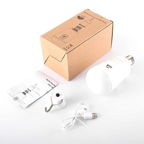 BianchiPamela OUTAD Solar LED Bulb Portable 7W E27 Emergency Lamp with Battery Power Bank