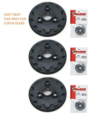 TRAXXAS SPUR Gear 4690 SPUR Gear 90T 48P (3pcs) These are Good for The Slash, RUSTLER, Stampede, Bandit, Skully, Bigfoot 2WD XL-5 Trucks.