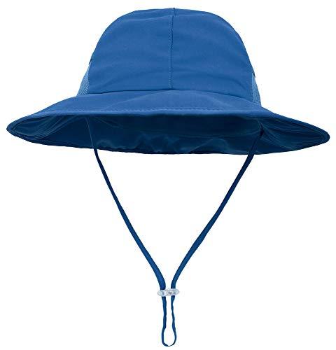 SimpliKids Kids Sun Hats Baby Sun Hat UV Protection Wide Brim Beach Hat, Royal, 2-6 Years