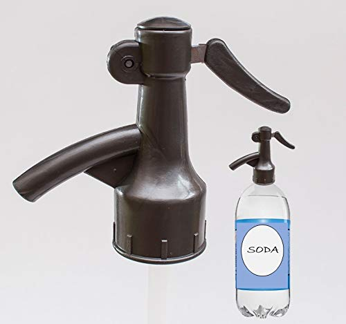 Sodafall soda bottle fizz saver dispenser for seltzer water/club soda/sparkling water and soda pops/better than soda sihon/saves money/works with 2 liter soda bottle (Grey)