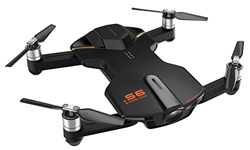 Wingsland vd-697011253018 Selfie S6 drone met camera, video 4 K, zwart