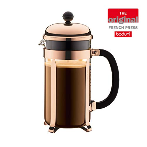 Bodum 1928-18 Chambord Kaffeebereiter, 1,0 L, 34 oz - Kupfer