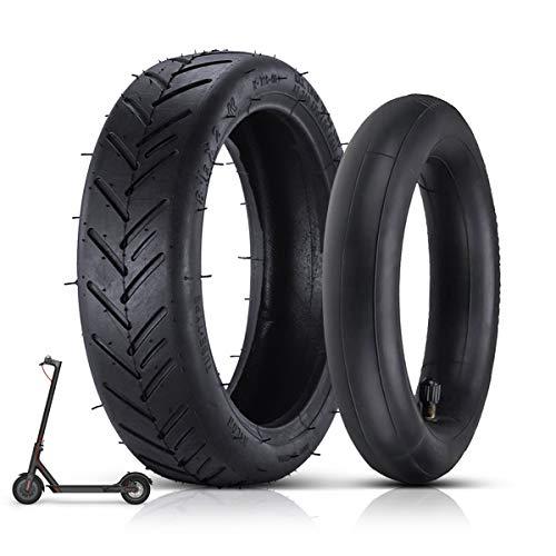 8 1/2 Ersatzräder Außen- und Innen Reifen, Elektroroller-Gummireifen Langlebiger Anti-Rutsch-Reifen, 8,5-Zoll-Roller-Reifen Rad Innen- und Außenreifen für Mijia M365 Elektroroller (Schwarz)
