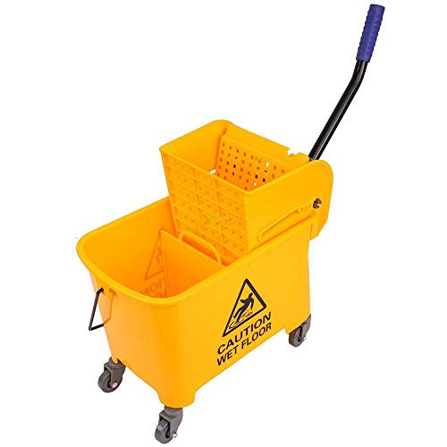 5 Gallon Durable & Sturdy Mini Mop Bucket with Wringer Combo...