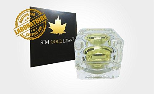 Polvo comestible de oro de 24 quilates bote de 100 mg pure 999/1000