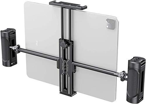 SmallRig Aluminium Stativ Mount Adapter Tablet Klemme Halter für iPad mit Doppelhandgriff 2929