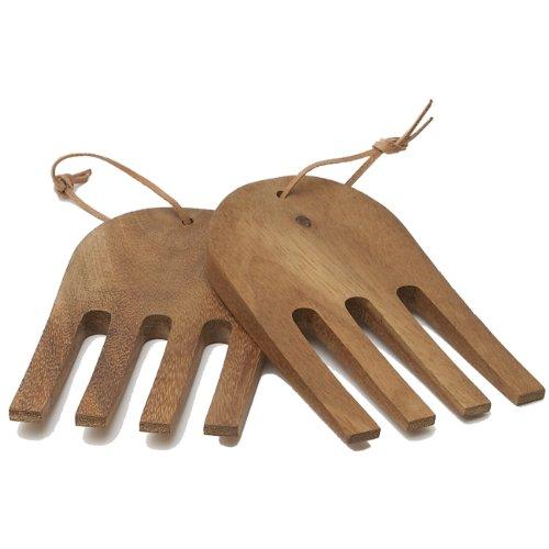 Woodard y Charles madera de acacia ensalada manos, 6–3/10.2cm