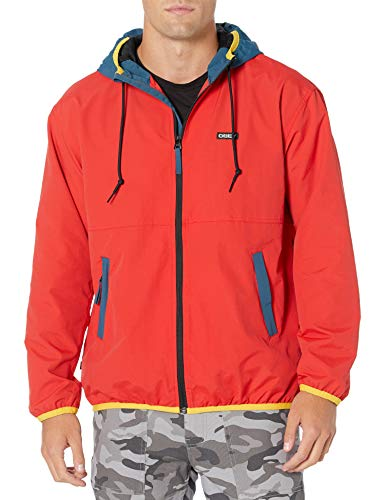 Obey Herren Messenger Jacket Jacke, Rot/Mehrfarbig, Large