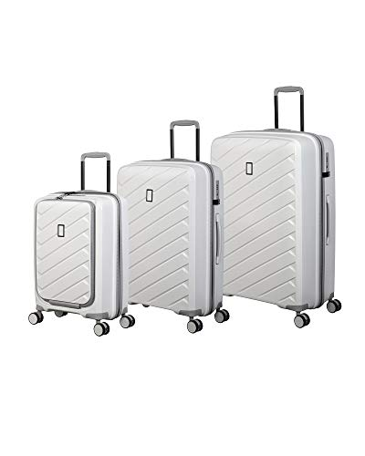 it luggage Influential Hardside Spinner, White, 3-Piece Set (22/26/29)