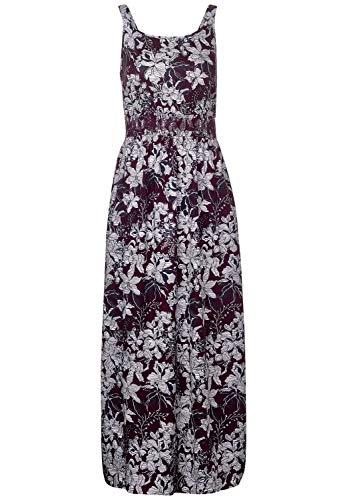 Cecil Damen Langes Kleid aus Viskose deep Loganberry XXL