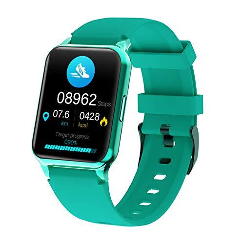 FMSBSC Reloj Inteligente Smartwatch Impermeable IP67 para Mujer Hombre, Pulsera Actividad Inteligente para Deporte con Monitor de Sueño, Pulsómetro Calorías para Android iOS,Verde