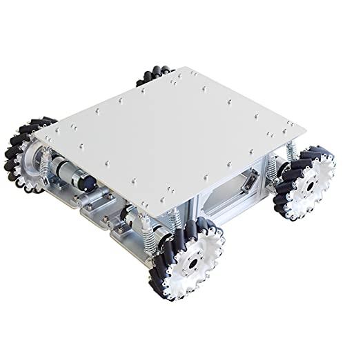 SFUO Kit de chasis de coche con 4 piezas de motor de engranaje planetario para Arduino STM32 Raspberry Pi (color : robot coche)