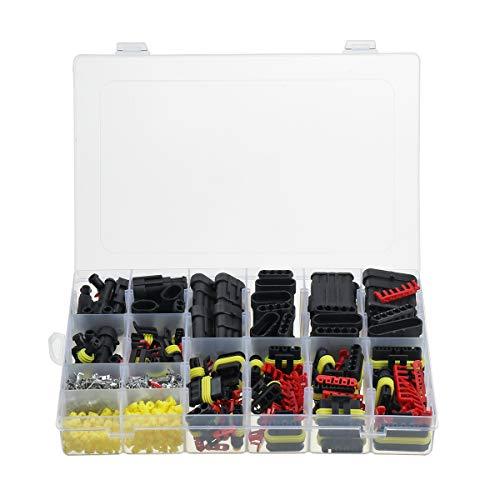ILS – 708 piezas cable eléctrico conector sellado impermeable 1-6 pines set con fusibles de cuchilla