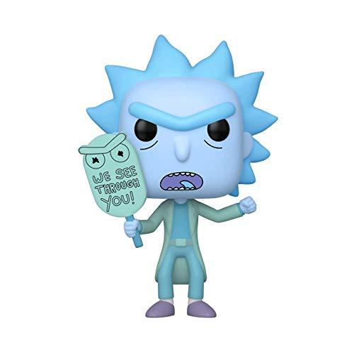 Funko Pop! Animación: Rick & Morty – Holgram Rick Clone, Brilla en la Oscuridad, Amazon Exclusivo