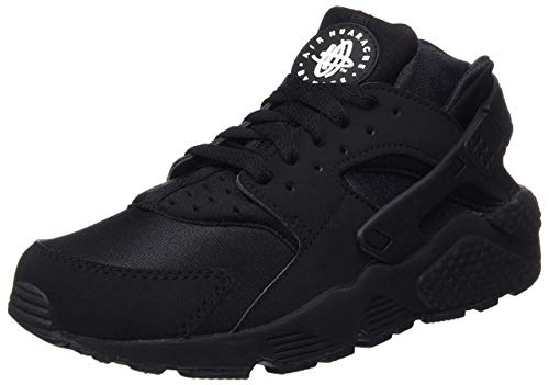 Nike Mens Air Huarache Black/Black/White Running Shoe (8)