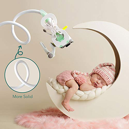 Baby Monitor Mount, Universal Infant Video Monitor Holder by Moonybaby, Baby Camera Shelf, Baby Monitor Stand, Flexible Camera Stand and Bendy Arm for Nursery, Fit for Most Baby Cameras Monitors
