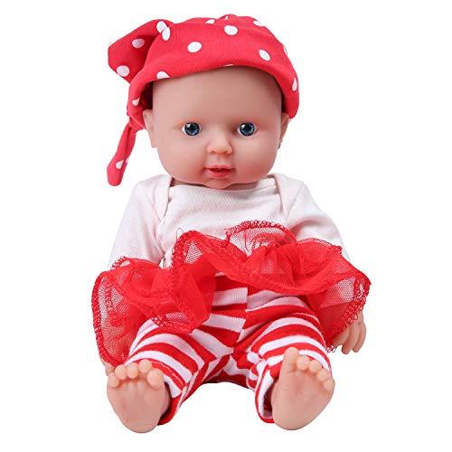 IVITA Ganzkörper Silikon Reborn Babypuppe Realistisch Neugeborenes Babypuppe Twins Alive Babypuppe Handmade Lebensechte Blaue Augen(WG1505-30cm-1207g-Mädchen)
