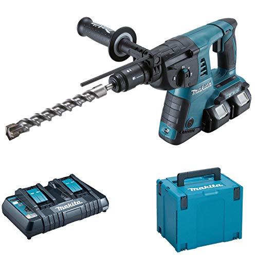 Makita DHR264PT2J Akku-Bohrhammer für SDS Plus 2x18V 5Ah Li-ion + Schnellwechselfutter 13mm + koffer Makpac