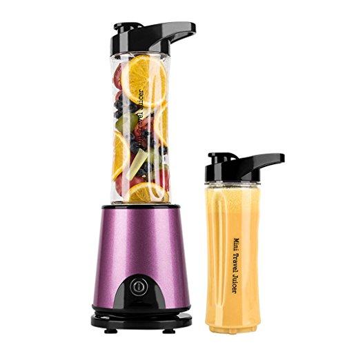 Licuadora de alta velocidad de licuado de vegetales para bebidas saludables, mezcladora de jugos para el hogar, azul / púrpura ( Color : Purple )