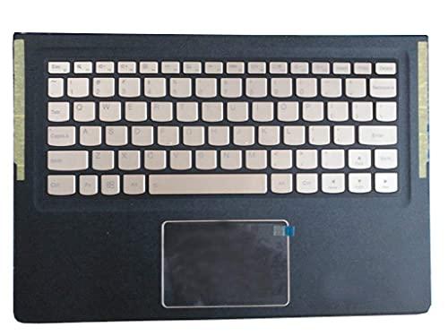 ZGQA-GQA Nuevo Teclado de Repuesto para computadora portátil Bisel Compatible con Lenovo Compatible con Yoga 900S 900S-12ISK Inglés EE. UU. 5CB0K93814 Dorado con retroiluminación Nuevo