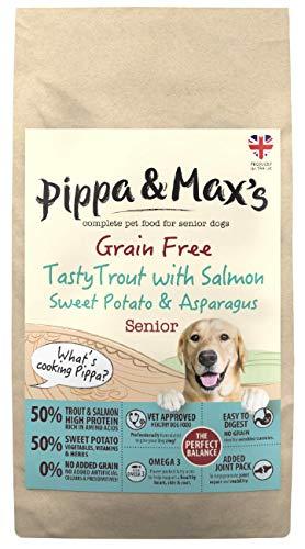 Pippa & Max's Senior 50% Trout, Salmon, Sweet Pot & Asparagus Grain Free Dry Dog Food Adult - 10kg