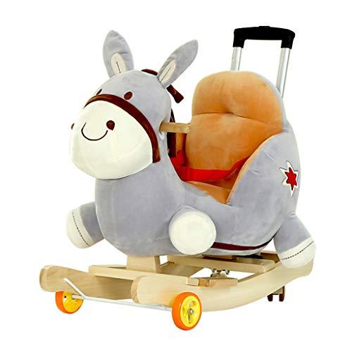 Fantastic Prices! FJH Rocking Horses Rocking Horse Putter Universal Wheel Trojan Children's Music Ro...