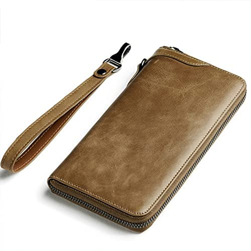 Lingwu Functional Sacramento Mall Max 45% OFF Mens Genuine Leather Zipper Win with ID Wallet