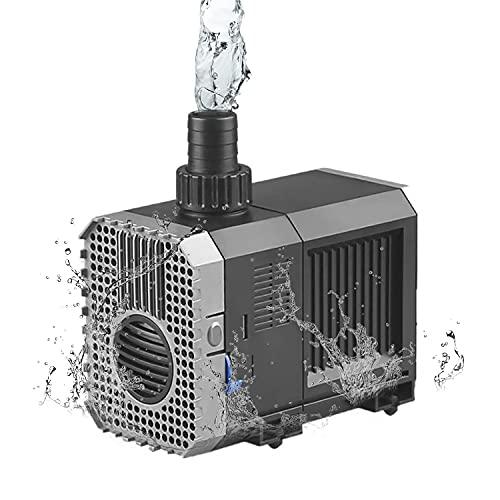 EXLECO Aquarium Förderpumpe 1500L/H 25Watt Tauchpumpen Wasserpumpe Fontäne Eco Filterpumpe Pumpe CHJ- 1500