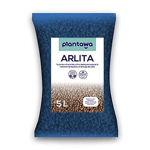 PLANTAWA Arlita Arcilla 5L, Sustrato de Bolas de Arcilla Expandida,