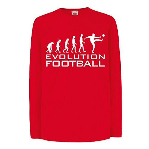 lepni.me Camiseta para Niño/Niña La evolución del fútbol - Camiseta de fanático del Equipo de fútbol de la Copa Mundial (5-6 Years Rojo Blanco)