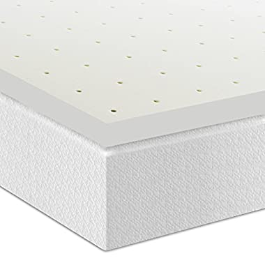 Best Price Mattress 2  Ventilated Memory Foam Mattress Topper, Twin
