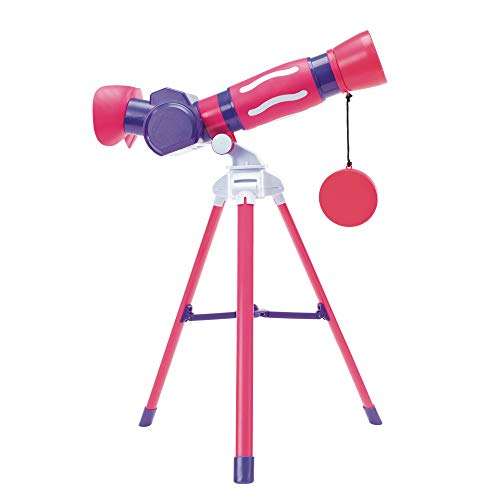 Educational Insights GeoSafari Jr. My First Telescope (Pink), STEM Toy for Kids, Telescope for Kids, Ages 4+