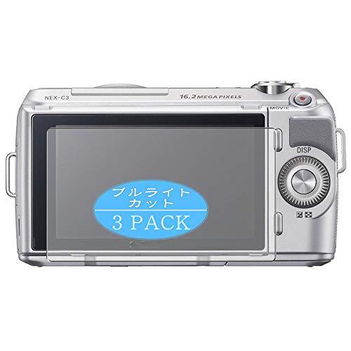 VacFun 3 Piezas Filtro Luz Azul Protector de Pantalla, compatible con SONY Mirrorless SLR α NEX-C3, Screen Protector Película Protectora(Not Cristal Templado) NEW Version