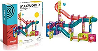 Magnetic Marble Run Building Set -115 PCs - 3D Magnetic Tiles Ball Track - Building Kit Fun and Educational Toy STEAM for ...